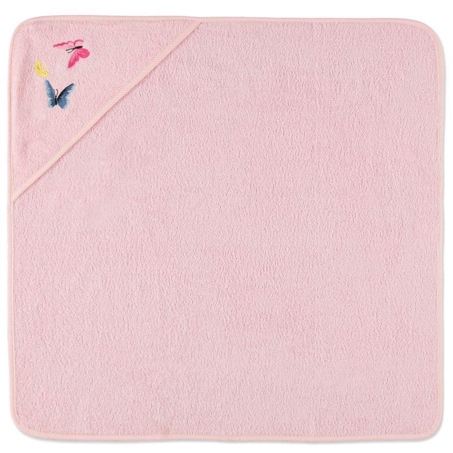 HÜTTE & CO Ręcznik kapielowy Motylek 75 x 75 cm, kolor różowy