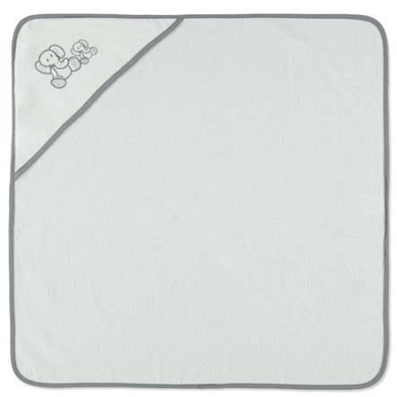 h tte co serviette de bain capuche l phant blanc. Black Bedroom Furniture Sets. Home Design Ideas