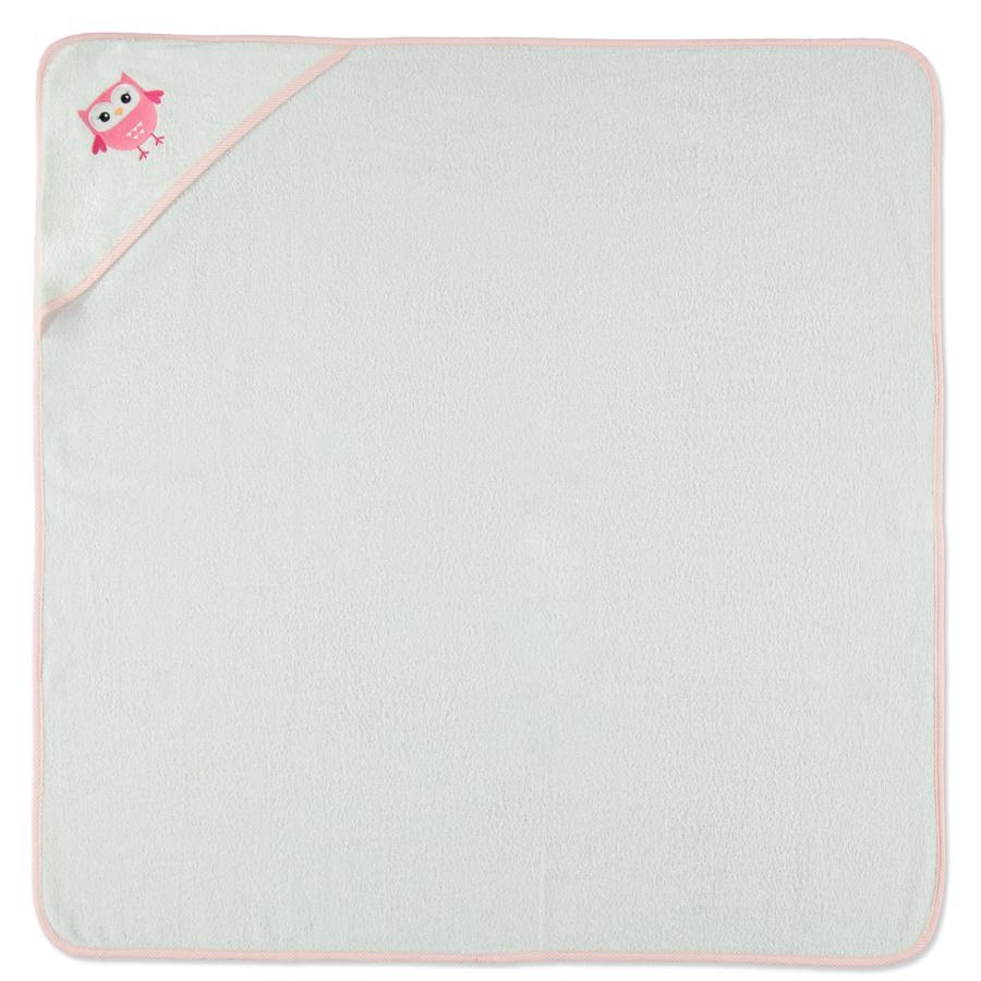 HÜTTE & CO Ręcznik kapielowy Sowa 100 x 100 cm, kolor biały
