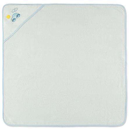 HAT &   CO hette badehåndkle bil hvit 100 x 100 cm