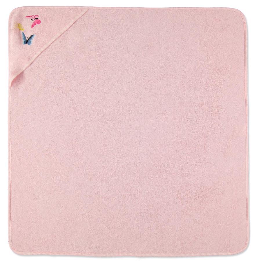 HÜTTE & CO Serviette de bain capuche rosé