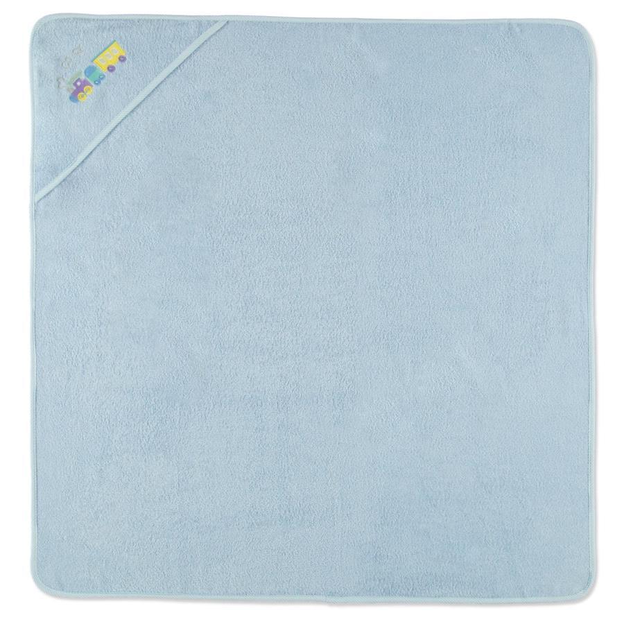 HÜTTE & CO Kapuzenbadetuch bleu 100 x 100 cm