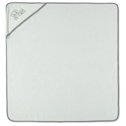 HAT & Koupelnová osuška s kapucí CO bílá bílá 100 x 100 cm