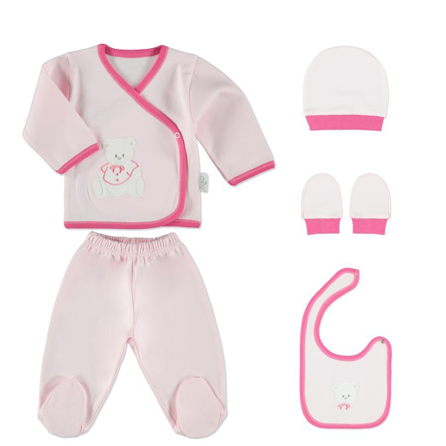 HÜTTE & CO Coffret naissance fille 5 pièces rosé 0 - 4 M