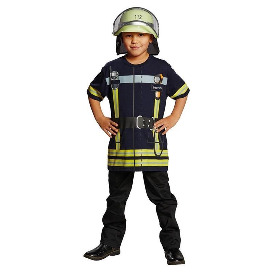 Rubies Carneval Kostuum Brandweerman Shirt blauw