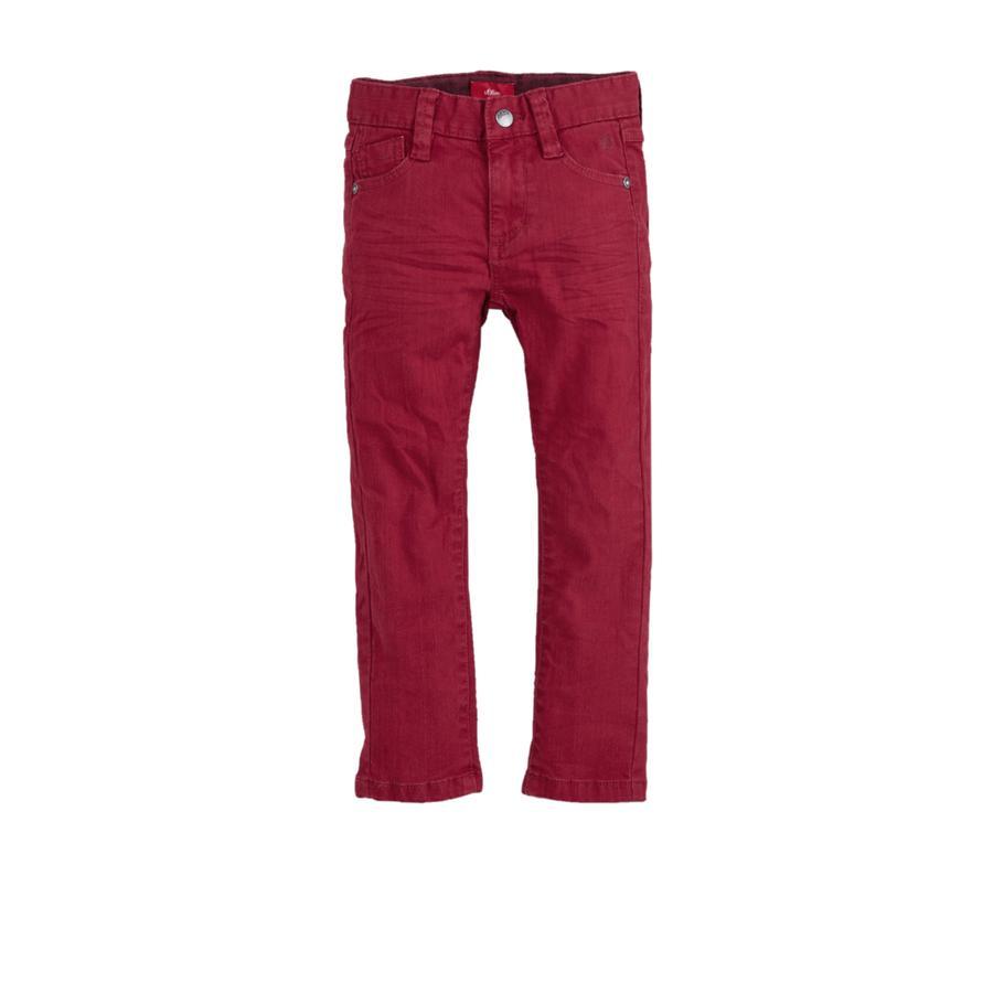 s.Oliver Boys Pantalon rouge foncé