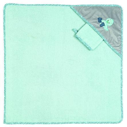 NATTOU Jack, Jules et Nestor Set de cape de bain à capuche, turquoise