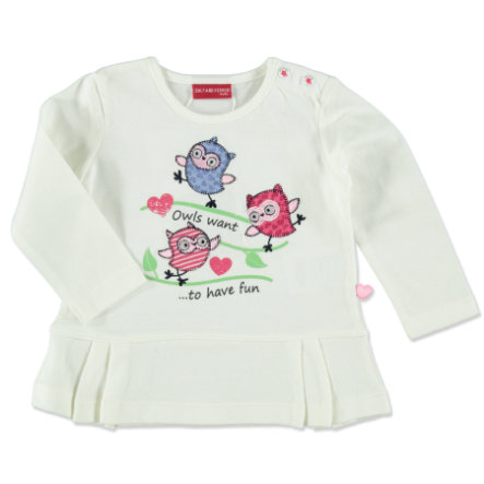SALT AND PEPPER Girls Longsleeve Smart Owl off white