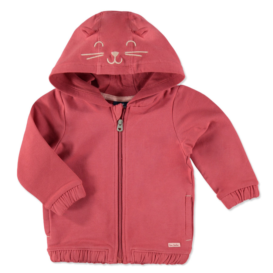 TOM TAILOR Girls Sweatjacke berry red