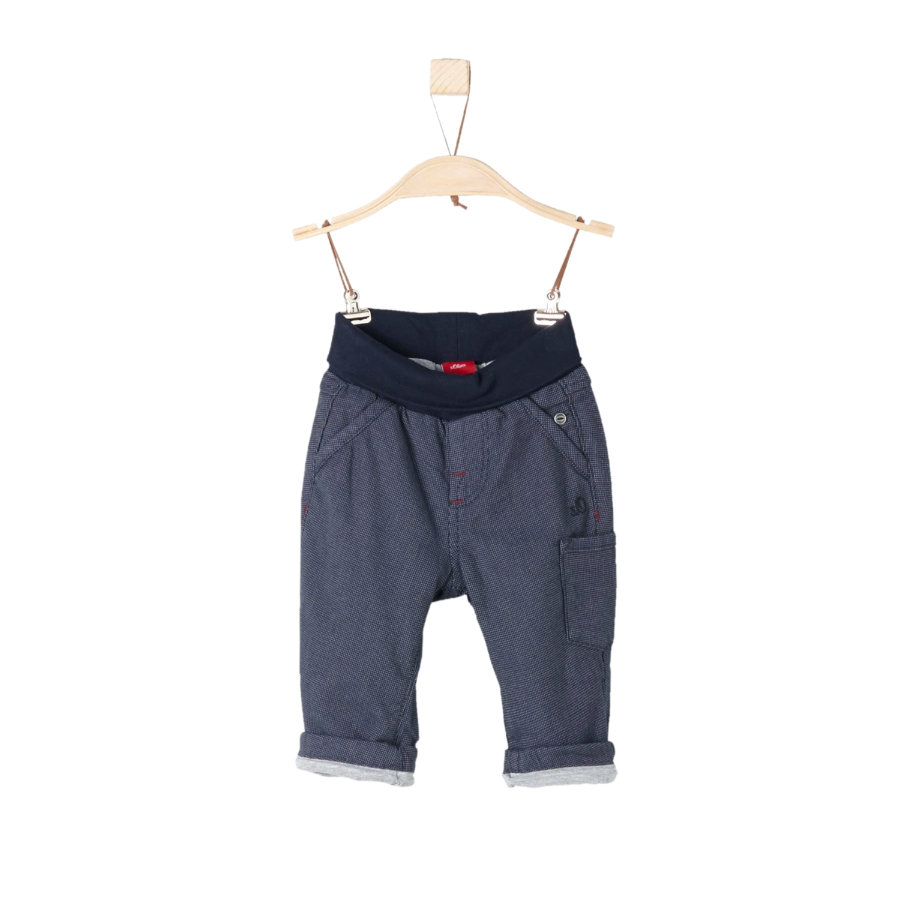 s.Oliver Boys Hose white stripe