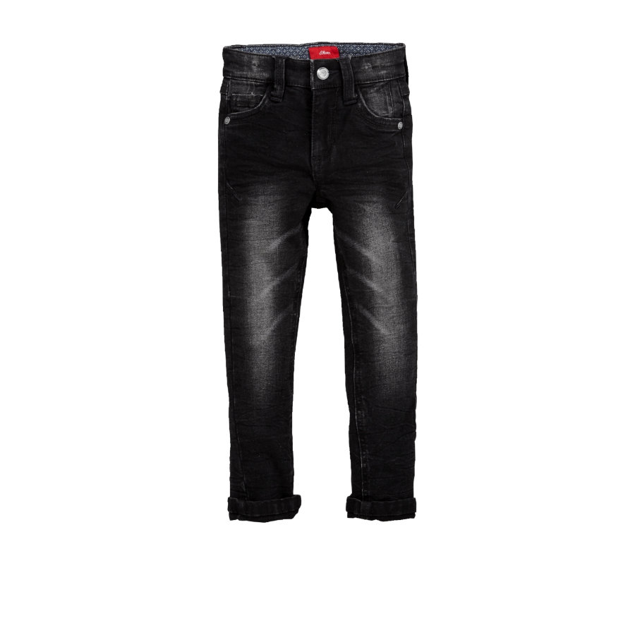 S.Oliver Boys Jeans black denim stretch