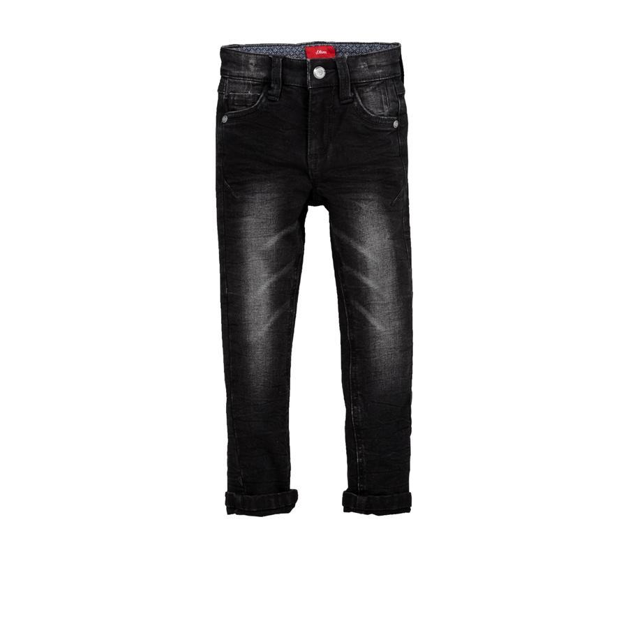 S.Oliver Jeans black denim stretch