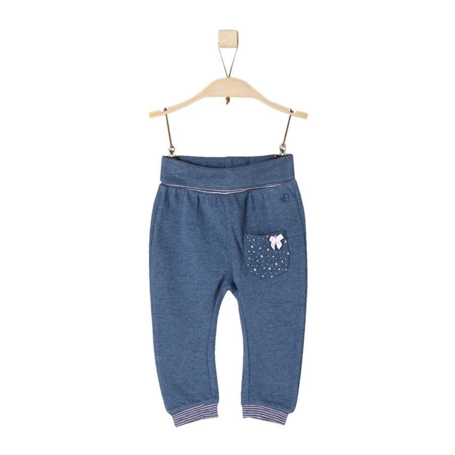 s.Oliver Girl s Niebieski melanż spodni Pants blue melange