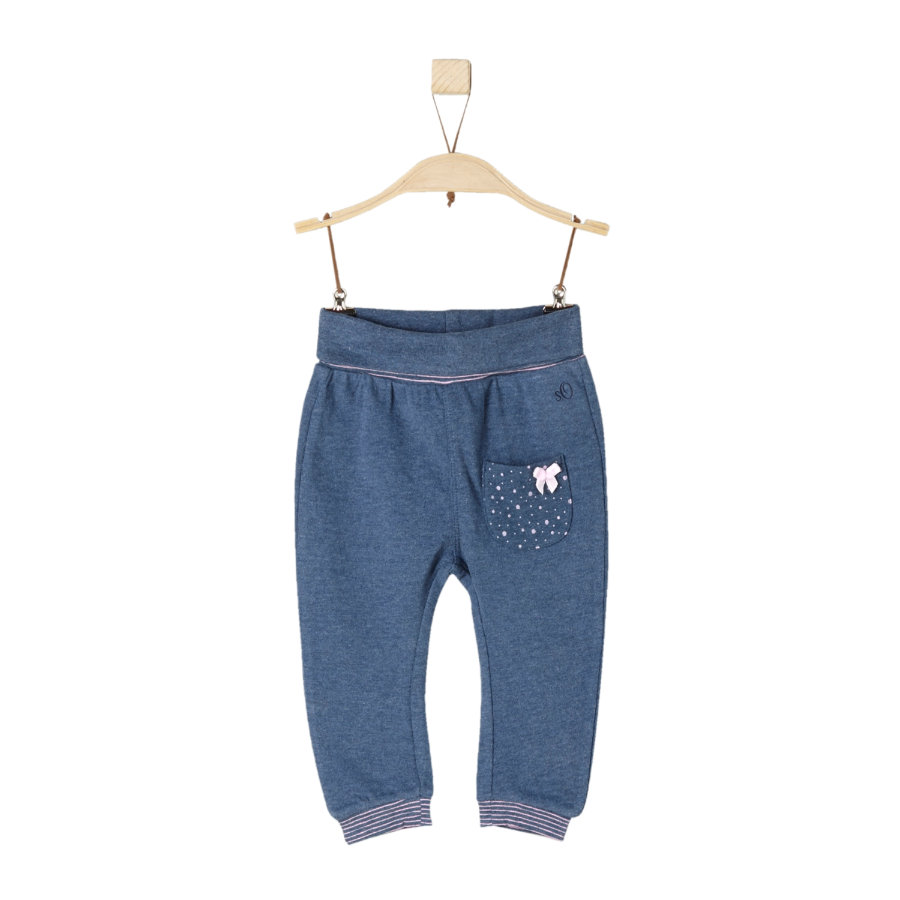 s.Oliver Girls Hose blue melange