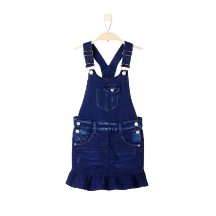 s.Oliver Girls Latzrock blue denim stretch