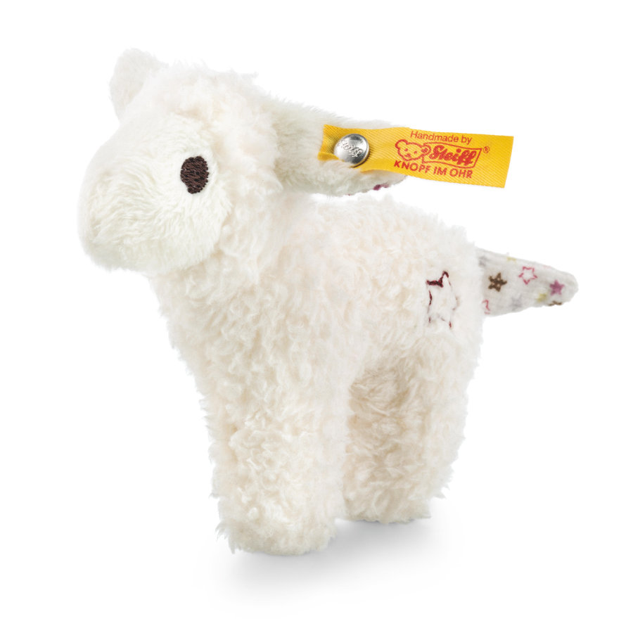 Steiff Mini knitre-lam med rangle, 11 cm