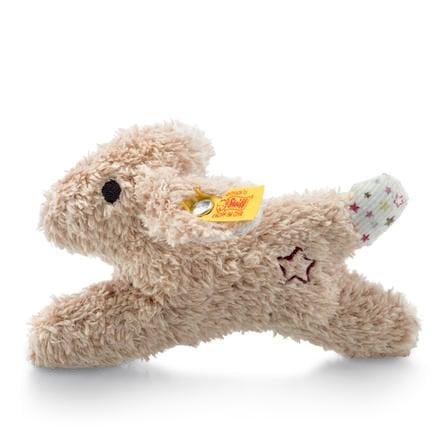 Steiff Mini šustivý zajíc s chrastítkem, 11 cm
