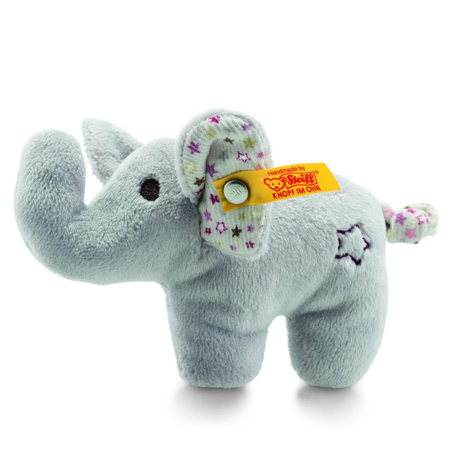 Steiff Mini knitrende elefant med rasling, 11 cm