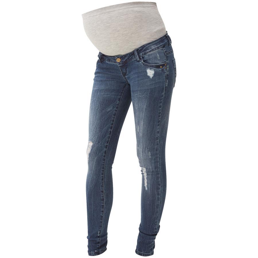 mama licious Umstands Jeans MLTROPEZ slim blau Länge: 34