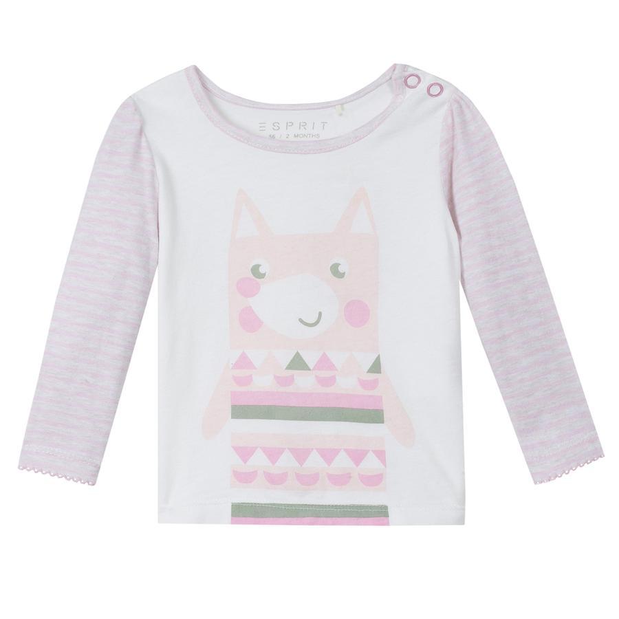 ESPRIT Girls Langarmshirt pastel pink