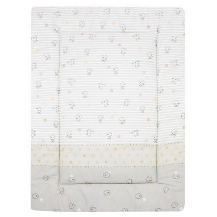 ALVI Couverture d'éveil Ours rayures, beige, 100 x 135 cm