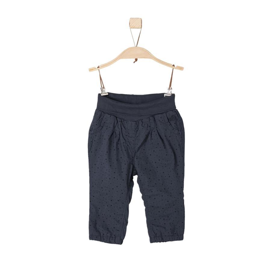 s. Olive r Girls kalhoty tmavě modré regular