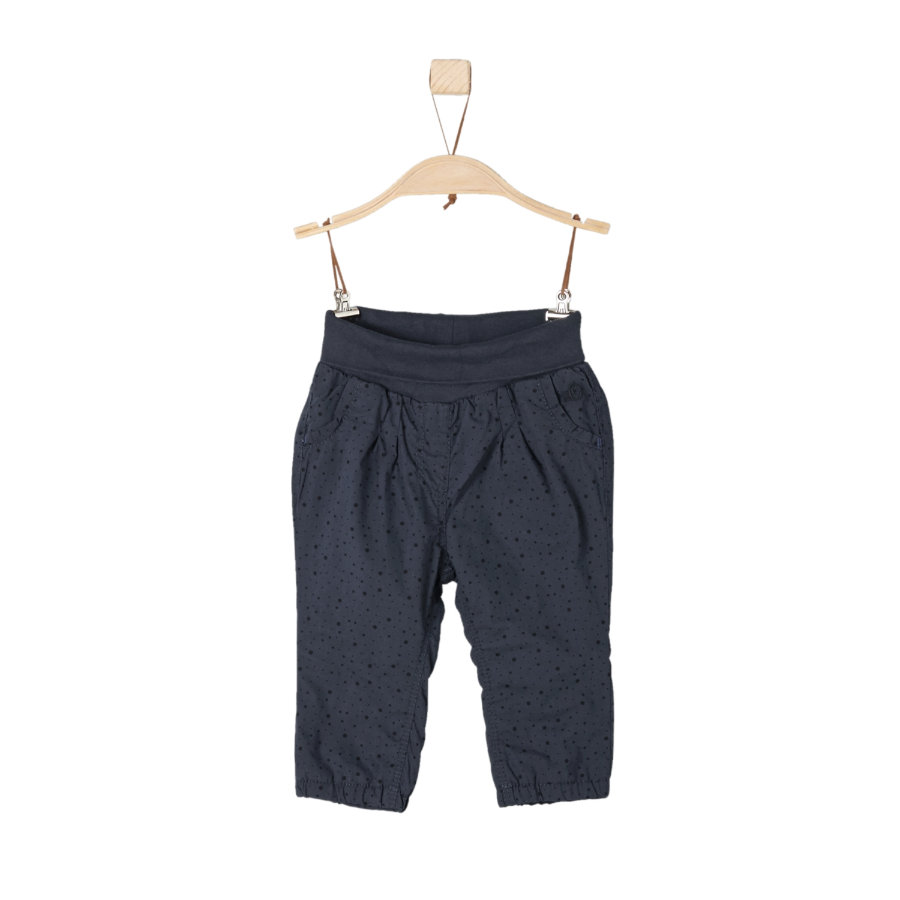 s.Oliver Girl Spodnie ciemnoniebieskie, regularne, ciemno-błękitne.