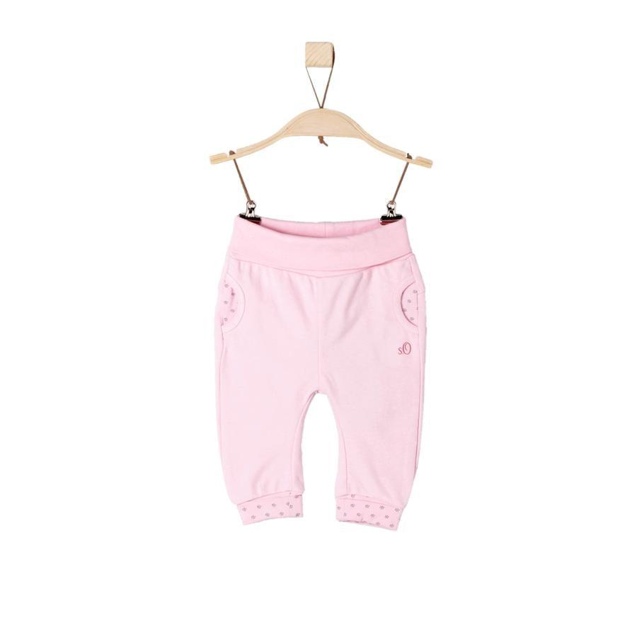s.Oliver Girl s Pantalon de survêtement rose clair
