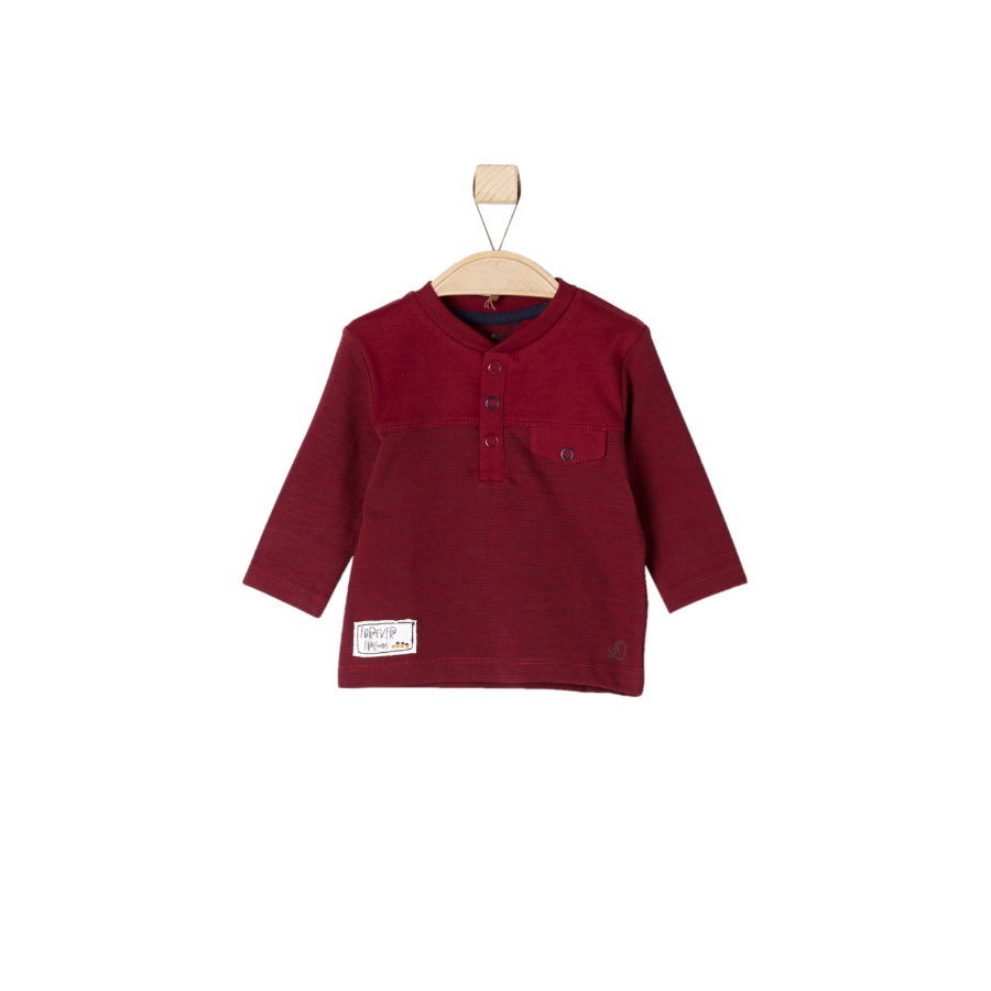 s.Oliver Girls Longsleeve dark red stripes