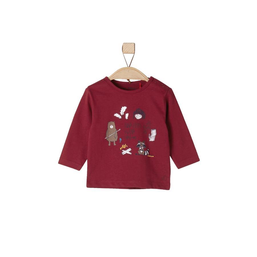 s.Oliver Långärmad tröja dark red