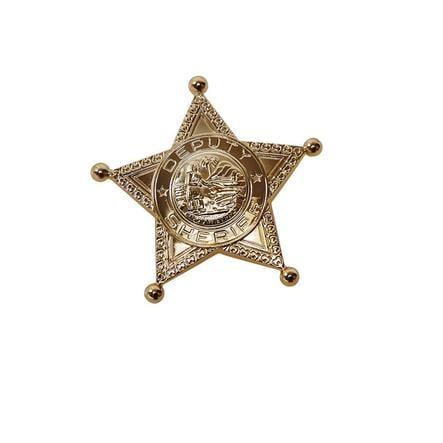 Rubies Accessori di Carnevale Stemma da sceriffo dorata