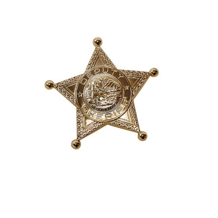 Rubies Karneval Accessories Sheriffstern in gold
