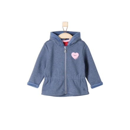 s.Oliver Girls Sweatjacke blue melange