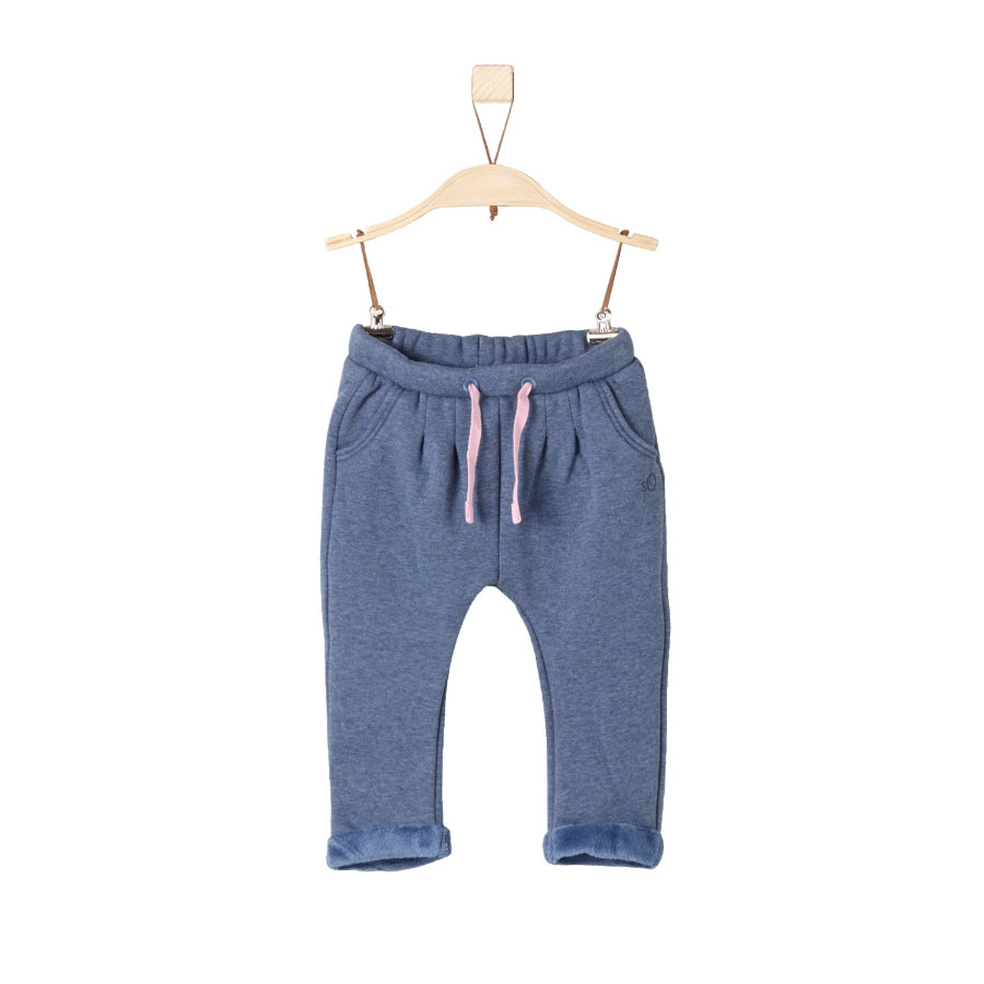 s.Oliver Girl s Pantalon bleu mélangé régulier