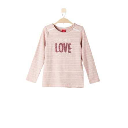 s.Oliver Girls Longsleeve light pink stripes