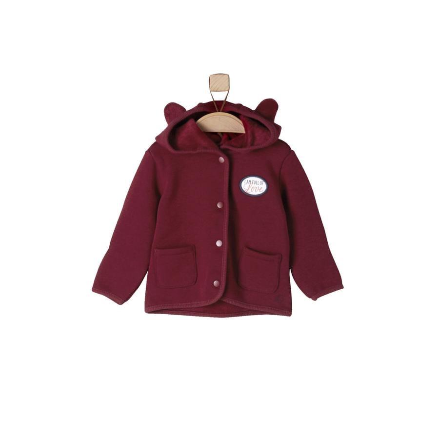 s.Oliver Girl s veste sweat rouge foncé
