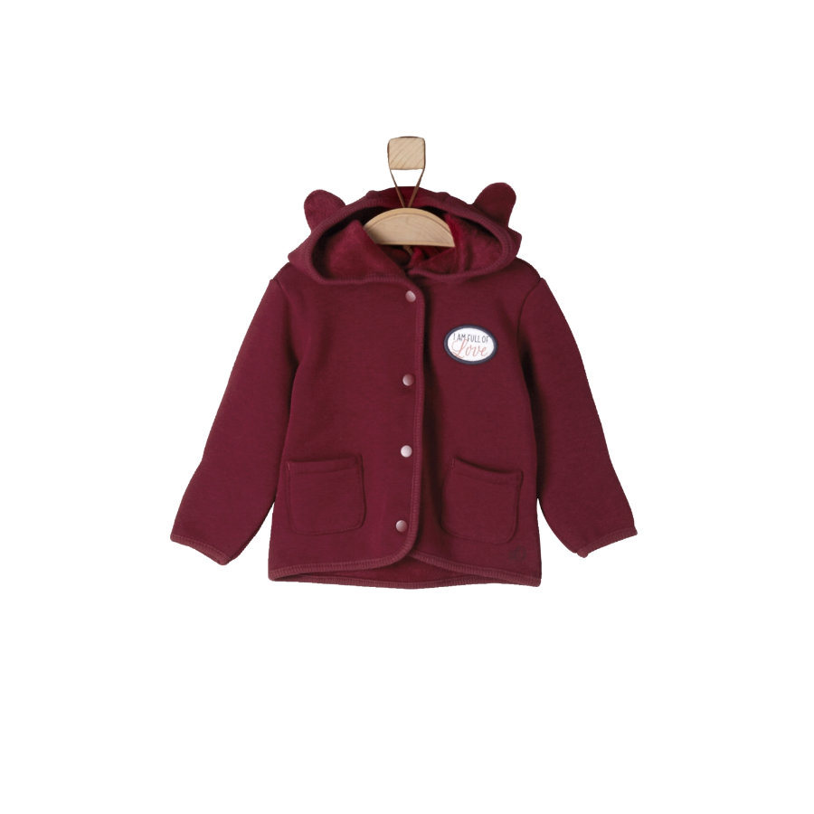 s.Oliver Girls Sweatjacke dark red