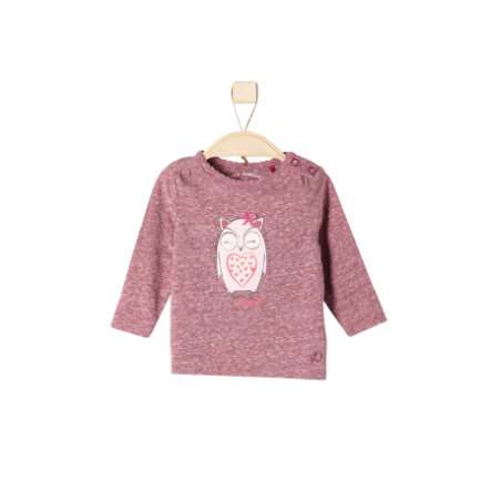 s.Oliver Girls Longsleeve dark red melange