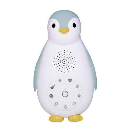 ZAZU ZOE - Pinguino luce notturna con suoni Bluetooth blu