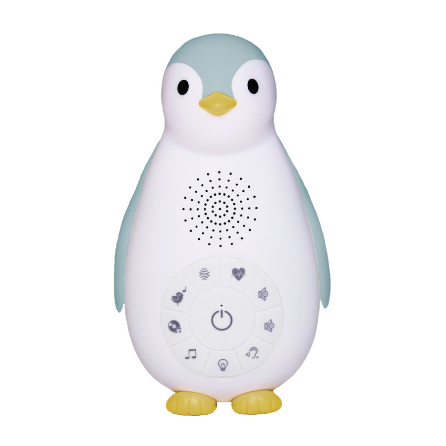 ZAZU ZOE - The Penguin Bluetooth Musikbox med natlampe blå