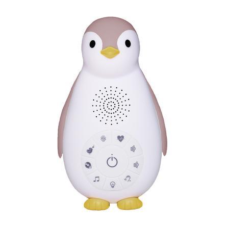 ZAZU Boîte à musique Bluetooth Zoe le pingouin, veilleuse, rose
