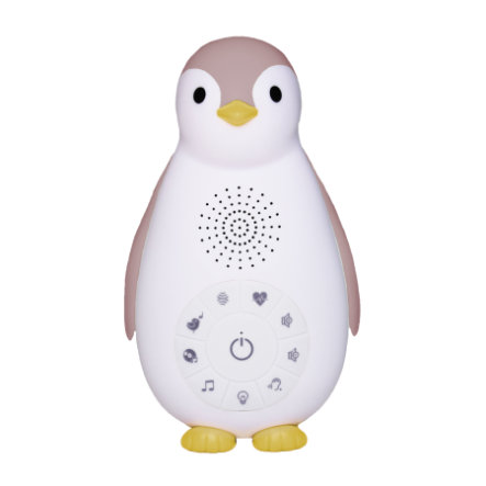 ZAZU ZOE - The Penguin Bluetooth Musikbox med natlampe rosa