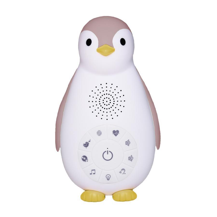 ZAZU Zoe - Tučňák Bluetooth hudební box s noční světle růžovou