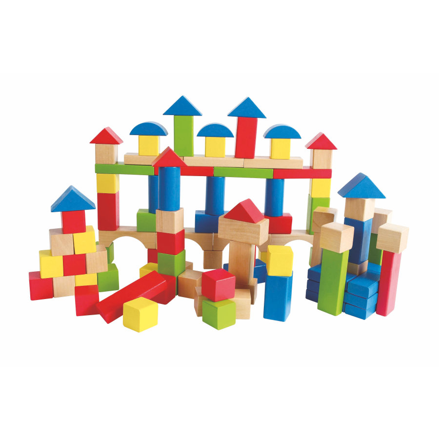 HAPE Cubes multicolores, bois