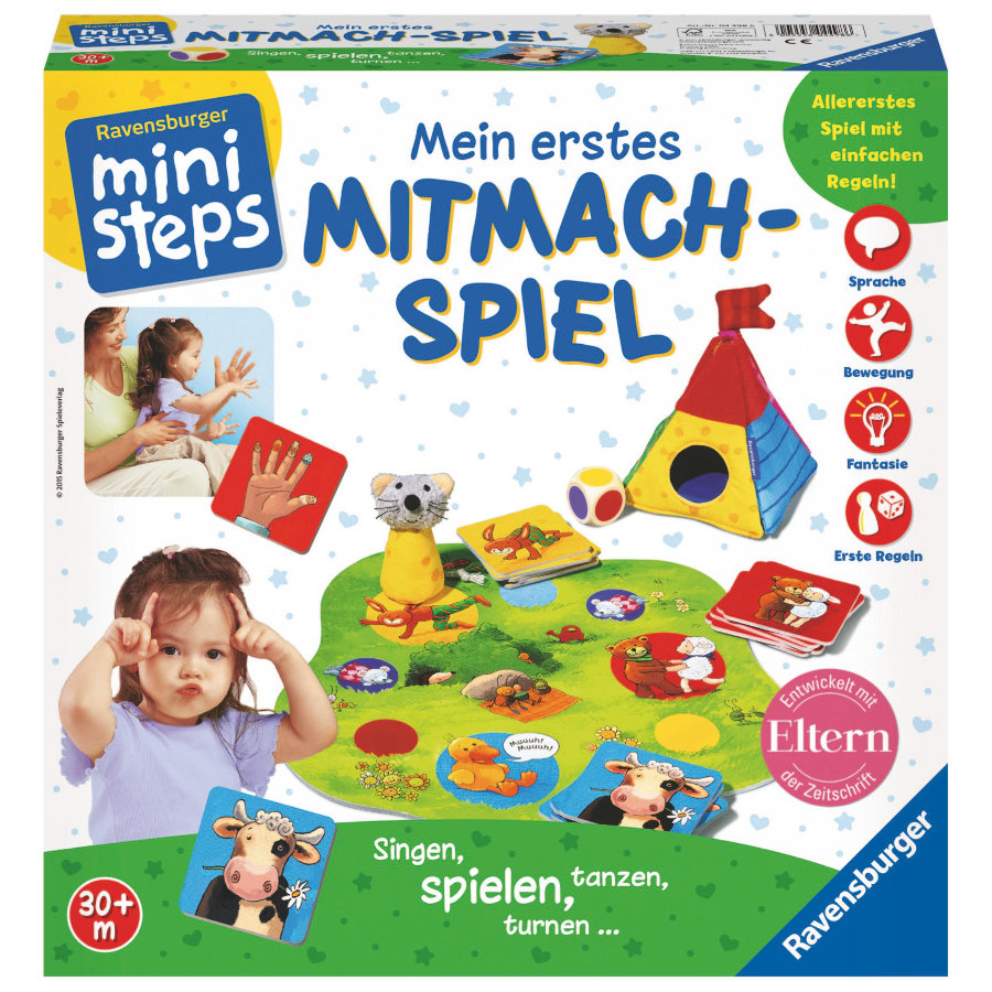 ravensburger ministeps mein erstes mitmach spiel baby. Black Bedroom Furniture Sets. Home Design Ideas