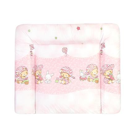 JULIUS ZÖLLNER Přebalovací podložka Softy medvídek růžová 75 x 85 cm