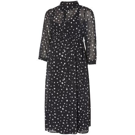 mama licious Robe de maternité DOTS noir