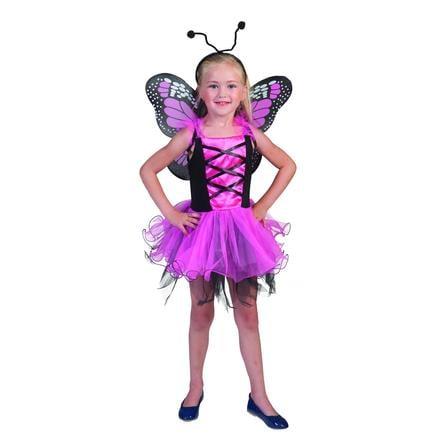 FUNNY FASHION Costume da Carnevale Farfalla rosa
