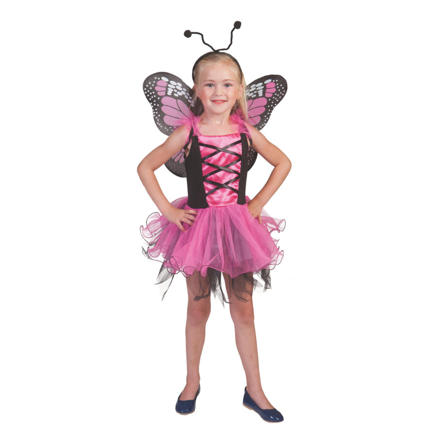 Funny Fashion Karnawałowy kostium motylkowy różowy
