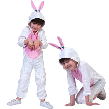 Funny Fashion Costume Carnaval Lapin, blanc